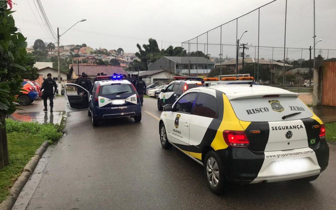 Auxilio na escolta com a Guarda Municipal Metropolitana de Curitiba.
