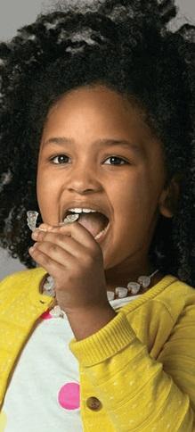 Invisalign alinhador transparente para crianças