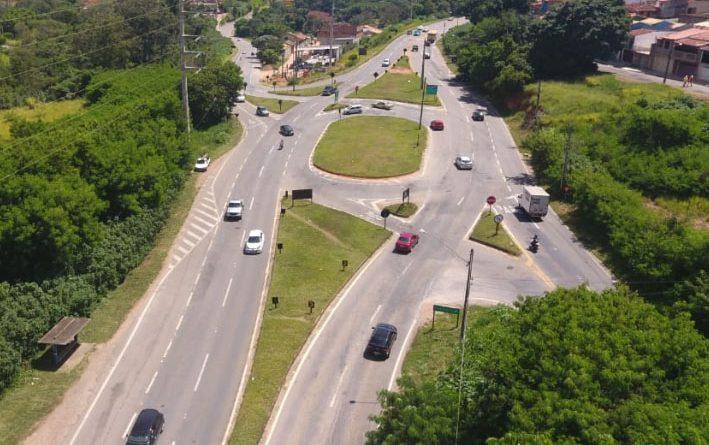 obras na rodovia Capitão Bardoíno