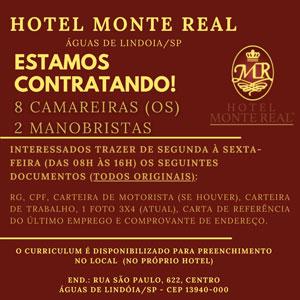 HOTEL MONTE REAL - ESTAMOS CONTRATANDO
