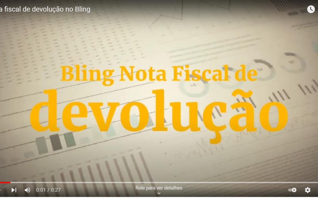 NFe devolução bling