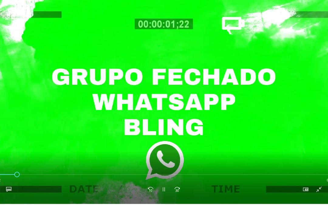 Grupo fechado whatsapp bling