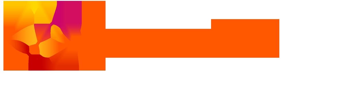 """Logotipo da empresa Avanade. O nome """"Avanade"""" está escrito na cor laranja. Do lado esquerdo, há algumas formas ondulares nas cores laranja e amarelo."""