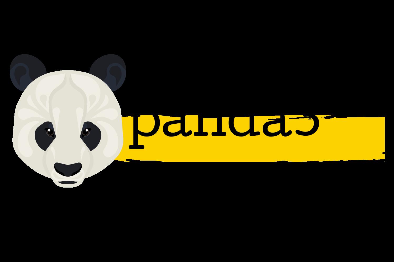 """Logotipo da empresa panda3. O nome """"panda3"""" está escrito na cor preta. Do lado esquerdo, há uma ilustração de um panda."""