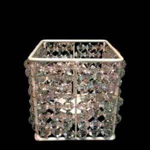 Caixa de cristal p/ arranjo M - locação de peças decorativas