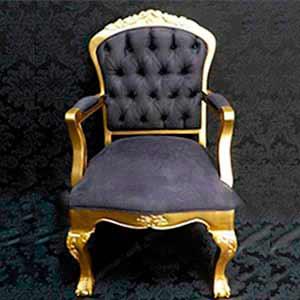 Poltrona Luis XV -locação de peças decorativas