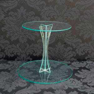 Suporte de vidro 2 andares-locação de peças decorativas