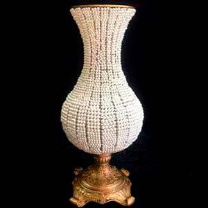 Vaso de pérola bojudo G -locação de peças decorativas