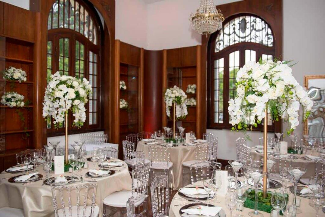 Decoração recepção comemoração de bodas - Festejare Decorações e Flores