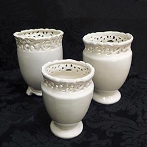 Vasos em porcelana - Loja Festejare Decorações