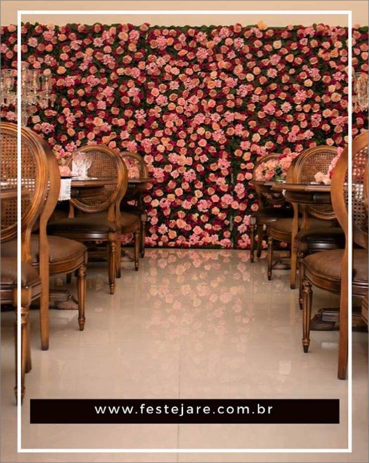 Painel de flores do aniversário da Mara Maravilha