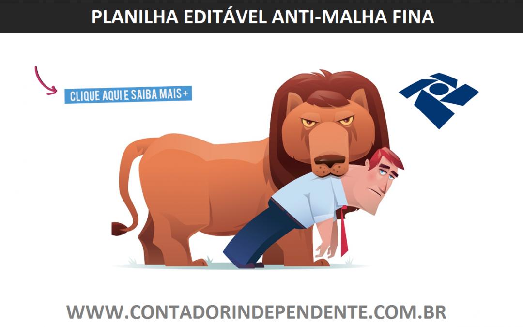 Planilha de Análise Malha Fiscal