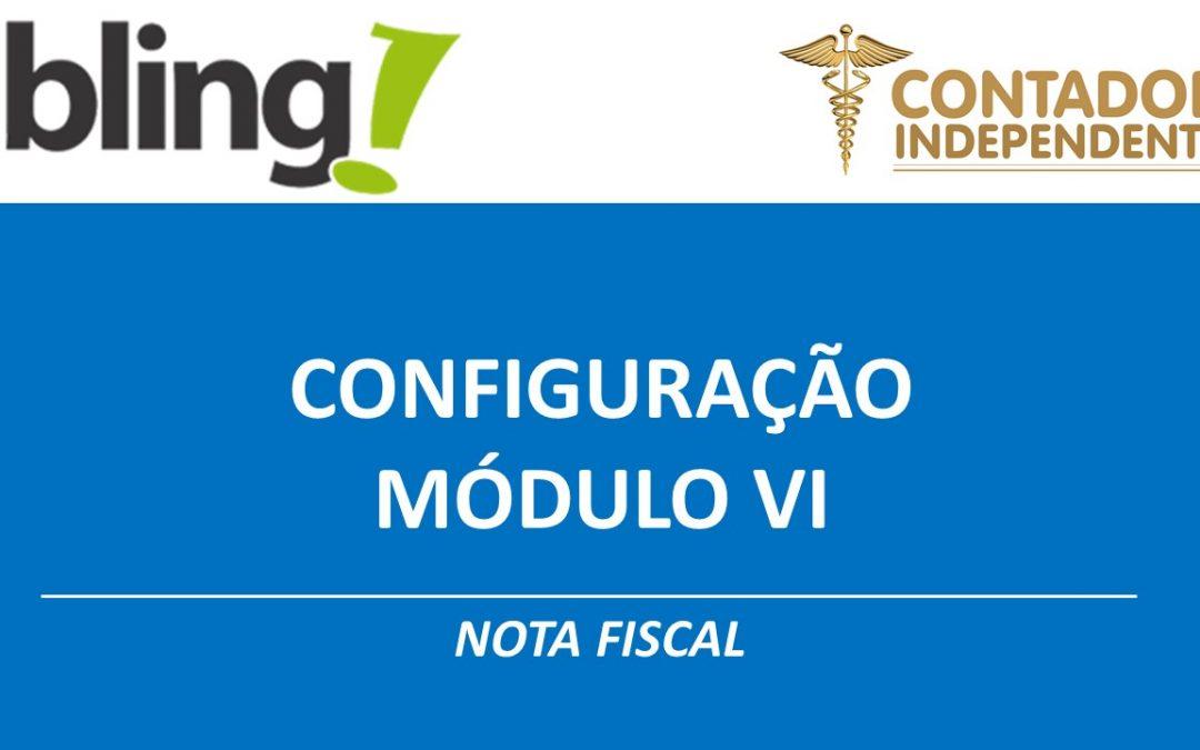 Configuração emissão nota fiscal sistema Bling