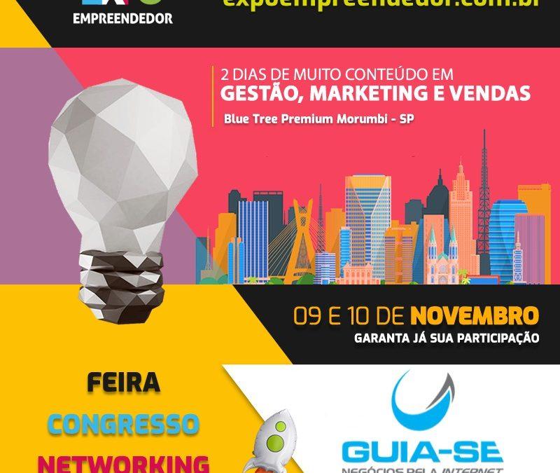 Expo Empreendedor 2019 entre os dias 09 e 10 de novembro no Blue Tree Premium no Morumbi